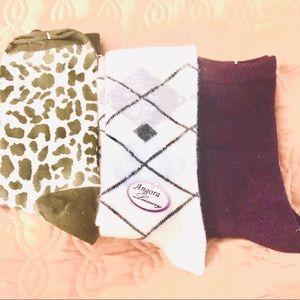 Set of pure Merino Wool & Angora socks